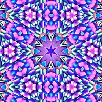 Fractal Wall Art - Photograph - #purple #pink And #turquoise #hippy by Pixie Copley