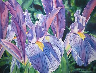 Painting - Purple Pinstripes by Leslie Redhead