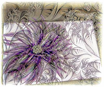 Purple Plume Art Print by Michelle Frizzell-Thompson