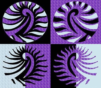 Sly Digital Art - Purple Pop Art by Sumit Mehndiratta