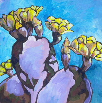 Painting - Purple Prickly Pear 1 by Sandy Tracey