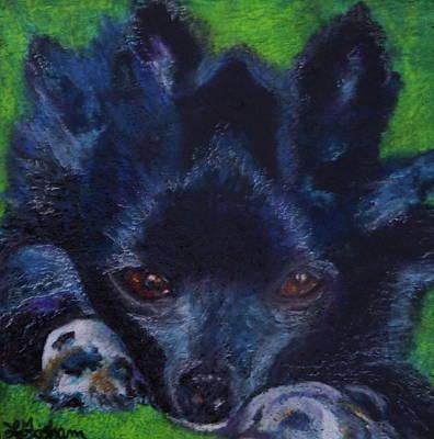 Painting - Purple Puppy by Laura  Grisham
