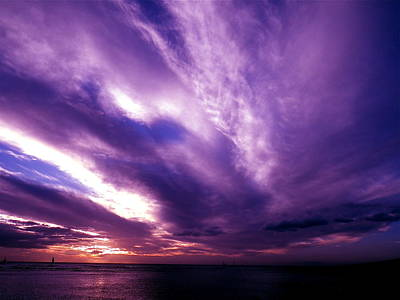 Purple Sunset Art Print by Erika Swartzkopf