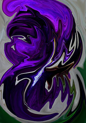 Purple Swirl Art Print by Karen Harrison