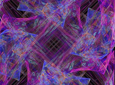Fantasy Digital Art - Purples II by Ricky Barnard