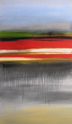 Drips Painting - Push Through by Amy Giacomelli