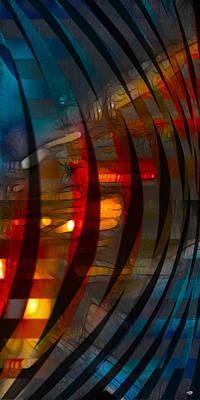 Digital Art - Pushing Paint  by Stuart Turnbull