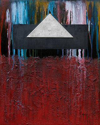 Leaning Mixed Media - Pyramid 3 by Mauro Celotti