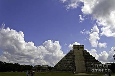 Photograph - Pyramid At Chichen Itza by Ken Frischkorn