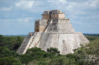 Mexico Photograph - Pyramid Of The Magician At Uxmal Mexico by Shawn O'Brien