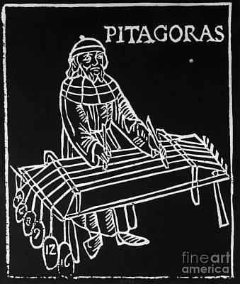 A2 Photograph - Pythagoras, Greek Mathematician by Omikron