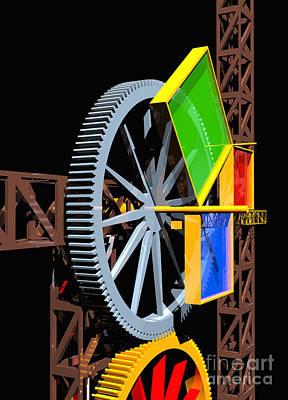 Digital Art - Pythagorean Machine Portrait 1 by Russell Kightley