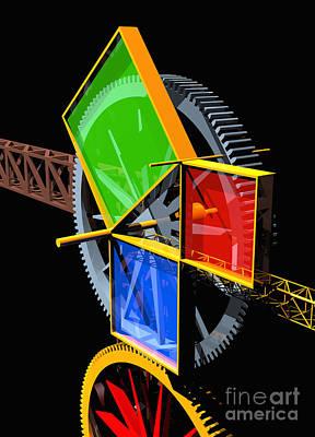 Digital Art - Pythagorean Machine Portrait 2 by Russell Kightley