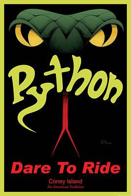 Python - Dare To Ride Art Print