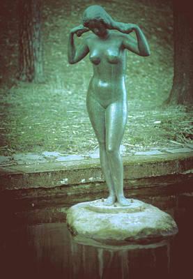 Print featuring the photograph Pyynikki Statue by Matti Ollikainen