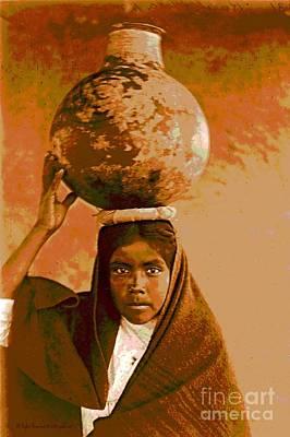 Water Jars Photograph - Qahatika Water Girl by Padre Art