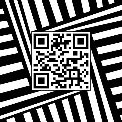 Drawing - Qr Code Optical Illusion by Casino Artist