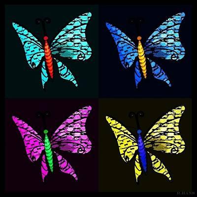Photograph - Quad Butterflies by Rob Hans