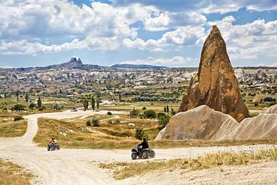Quad Riding In Cappadocia Art Print