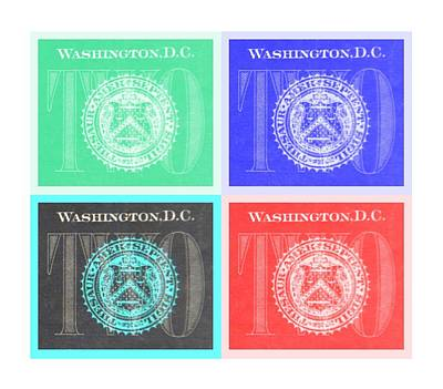 Photograph - Quad Twos In Negative Colors by Rob Hans