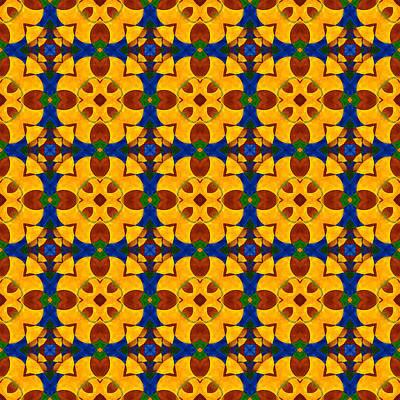 Quadrichrome 13 Symmetry Art Print by Hakon Soreide