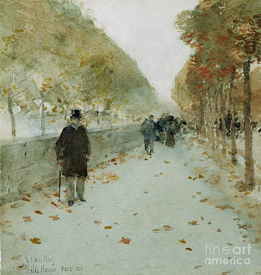 French Cities Painting - Quai Du Louvre by Childe Hassam