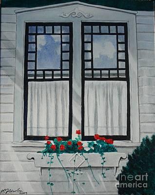 Painting - Quaint Window by LJ Newlin