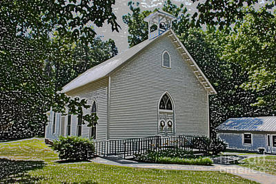 Photograph - Quaker Church Pencil by Scott Hervieux