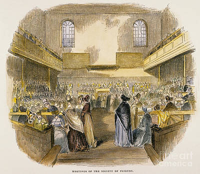 Quaker Meeting, 1843 Art Print by Granger
