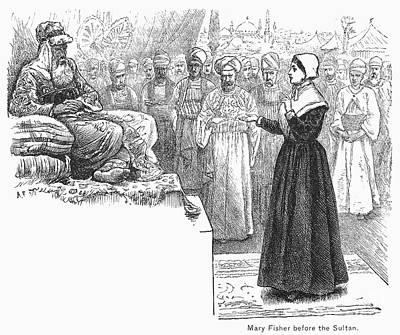 Quaker Photograph - Quaker Missionary, 1658 by Granger