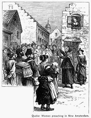 Quaker Photograph - Quaker Preaching, 1657 by Granger