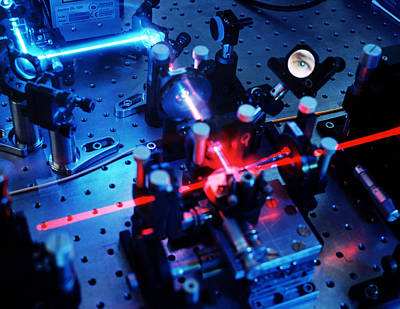 Quantum Cryptography Equipment Print by Volker Steger