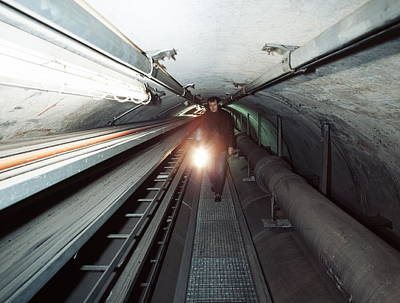 Quantum Entanglement Tunnel Print by Volker Steger