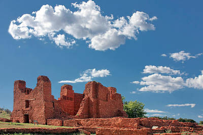 Quarai Ruins At Salinas Pueblo Missions National Monument Art Print by Christine Till