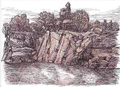 Quarry At Halibut Point Art Print
