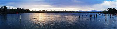 Photograph - Quarry Dawn Triathlon Panorama by Michael Courtney