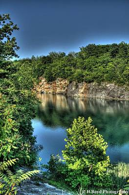 Quarry Of Reflections 2 Art Print by Heather  Boyd