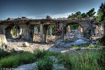 Photograph - Quarry Ruins by Heather  Boyd