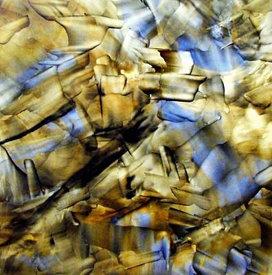Quasi Scape Blue Art Print by Turgay Denizel