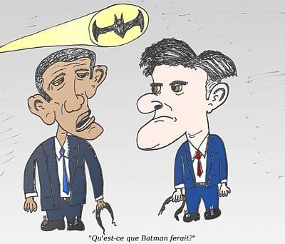 Obama Mixed Media - Que Ferait Batman by OptionsClick BlogArt
