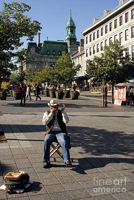 Photograph - Quebecois Harmonica Player Montreal by John  Mitchell