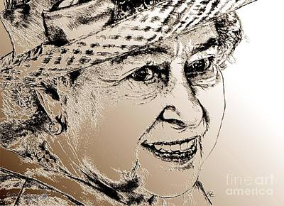 Digital Art - Queen Elizabeth II In 2012 by J McCombie