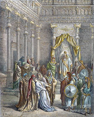 Drawing - Queen Esther by Gustave Dore