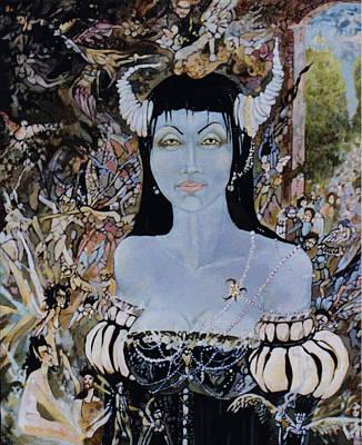 Queen Mab 1 Art Print by Jackie Rock