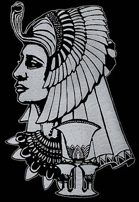 Glassart Glass Art - Queen Nefertiti by Jim Ross