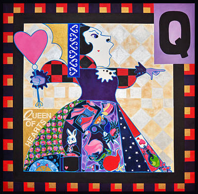 Painting - Queen Of Hearts by Jenny Valdez