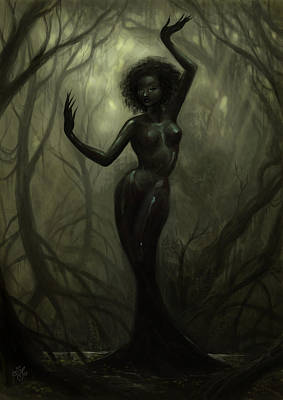 Nude Digital Art - Queen Of Mud by Caroline Jamhour