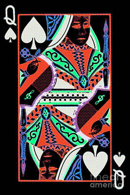 Queen Of Spades Art Print by Wingsdomain Art and Photography