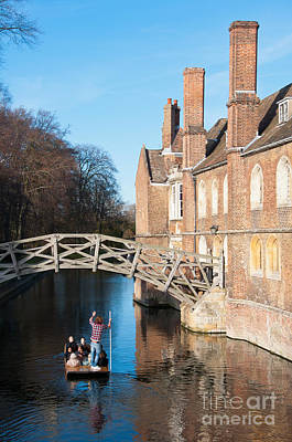 Cambridge Photograph - Queens College Cambridge by Andrew  Michael