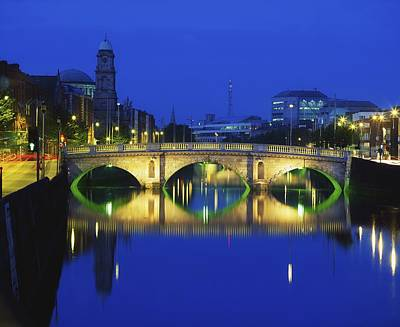 Queens Street Bridge, River Liffey Art Print by The Irish Image Collection